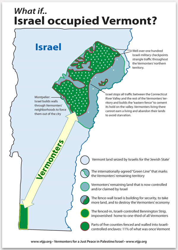 What If Israel Occupied Vermont?