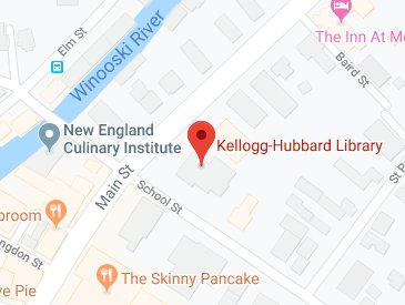 Location of Kellogg-Hubbard Library
